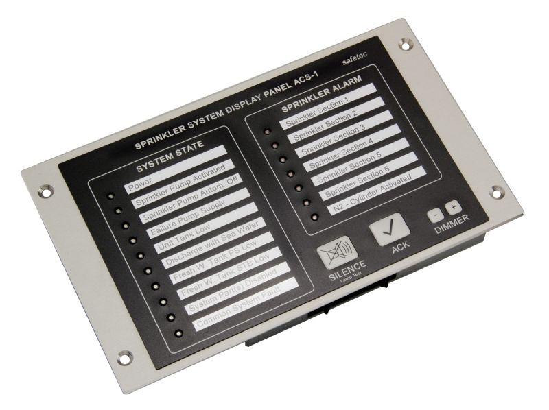Sprinkler Control Panel : Safetec control systems for fire fighting sprinkler